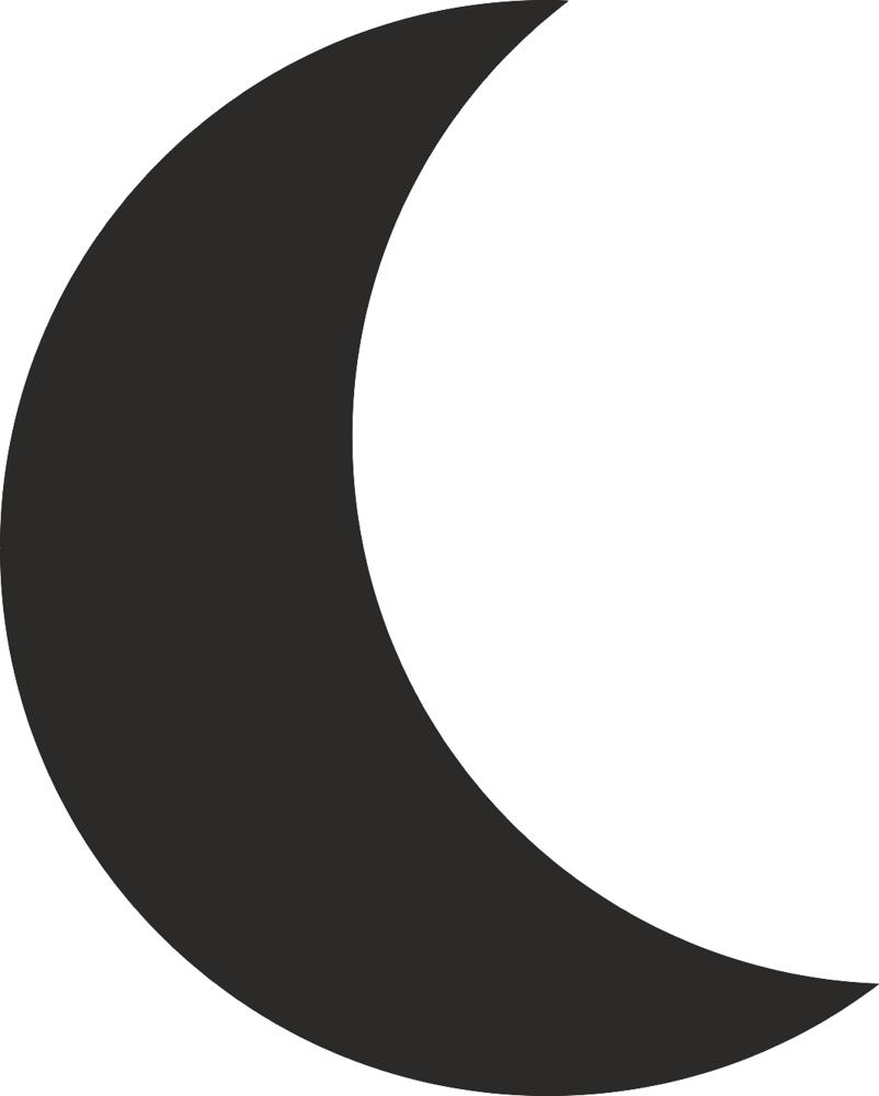 802x1000 Moon Silhouette Vector Dxf File Free Download