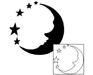 310x250 Moon Tattoo Designs