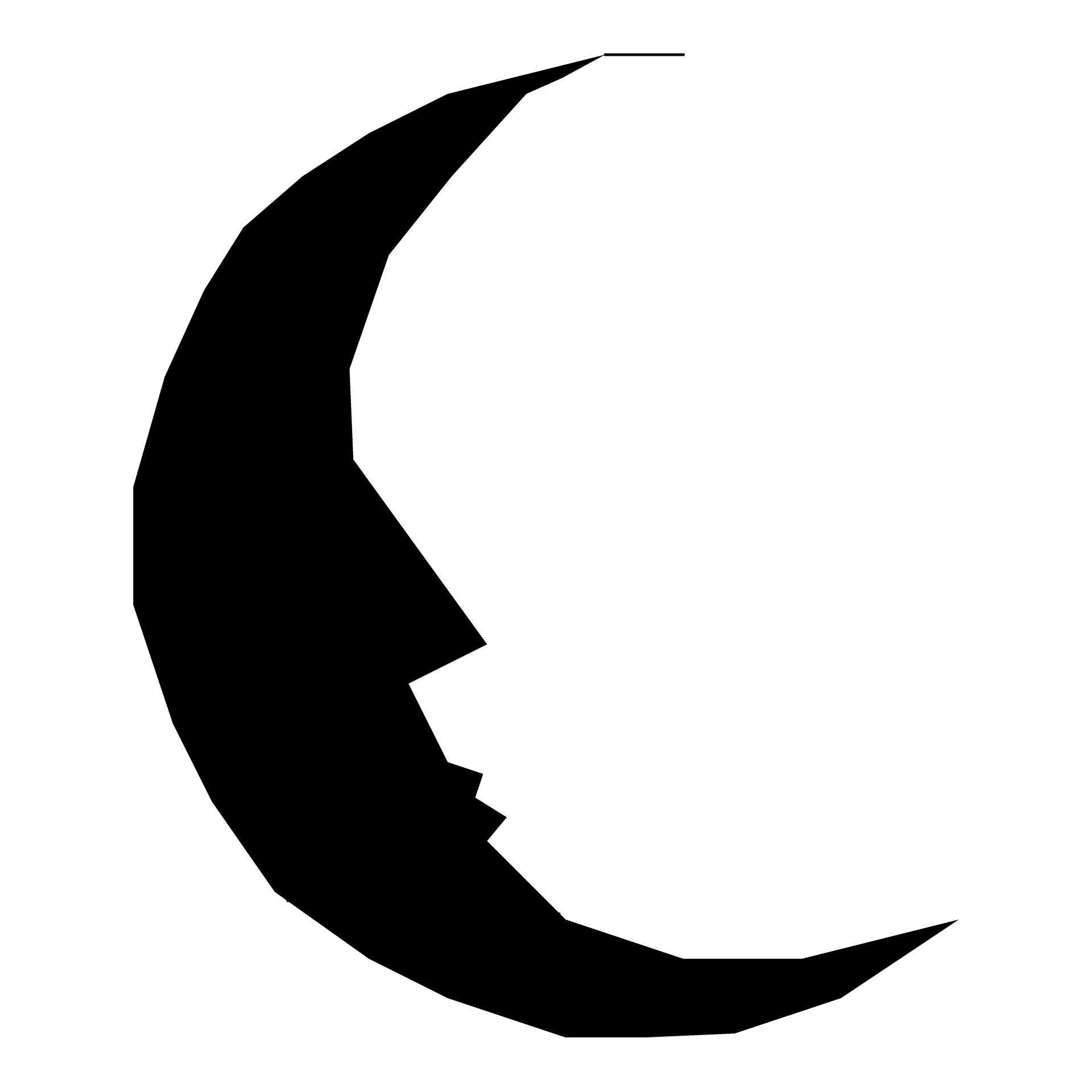 1920x1920 Silhouette Moon Free Stock Photo