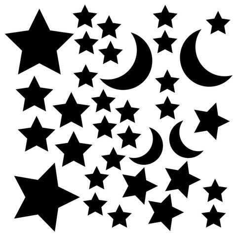 474x474 Stars And Moon Svg Cut Files For The Silhouette Cameo And Cricut