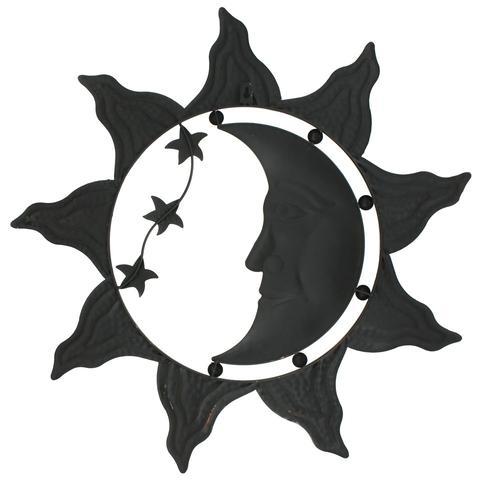480x480 Sun Moon Stars Celestial Face Metal Wall Decor Home Garden
