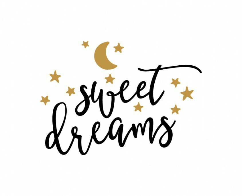 845x684 Sweet Dreams Moon And Stars Curly Font