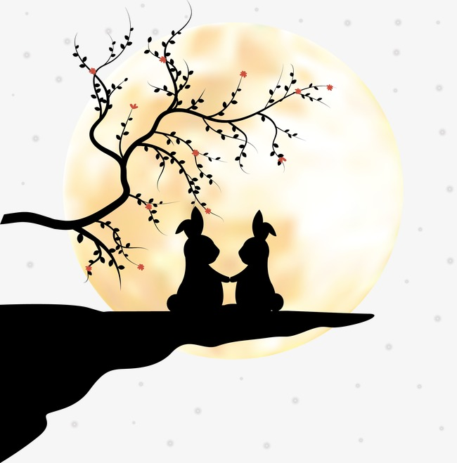 650x659 Couple Silhouette Sunset, Kitten, Trees, Moon Png And Vector