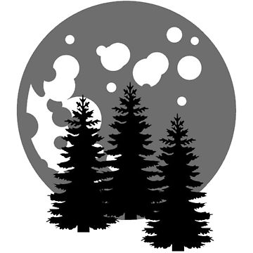360x360 Hovering Moon Forest Silhouette Pullover Hoodie By Fourthmoon