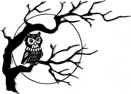 425x306 Wonderful Halloween Tree Tattoos Designs And Ideas