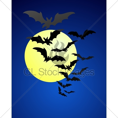 500x500 Bats In The Evening Sky Gl Stock Images
