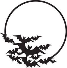 236x240 Bats Over Moon Halloween Clip Art Bats, Moon