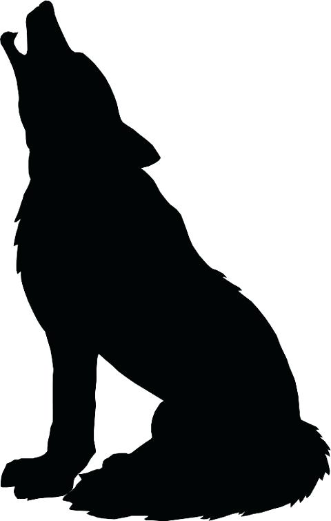480x754 Silhouette Black Wolf Moon A Free Image On Silhouette Black Wolf