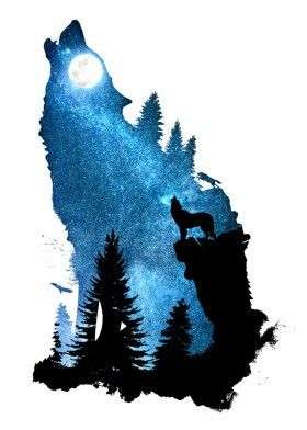 280x392 Designstudio Dverissimo Wolf Dog Howling Wind Howl Night Space