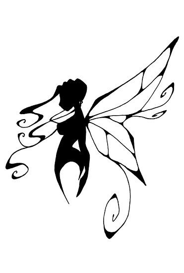 371x550 Fairy On Moon Silhouette Tattoo Stencil Real Photo Pictures