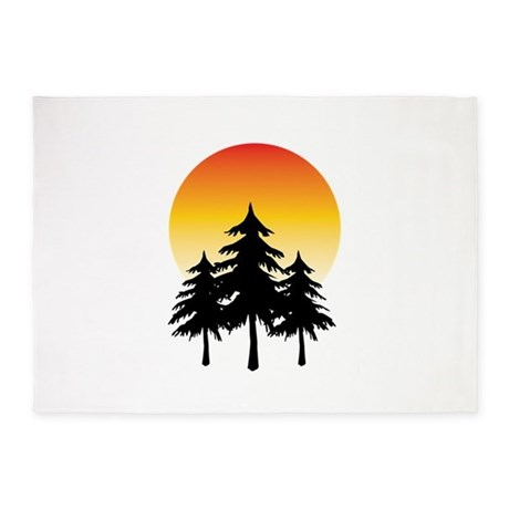 460x460 Moon Trees 5'X7'Area Rug By Windmill23