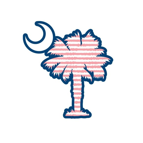 580x580 Palmetto Tree And Moon Clipart