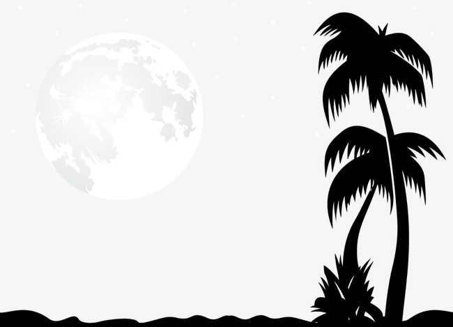 650x469 Romantic Moon Vector Illustration, Romantic Moon, Moon, Vector Png
