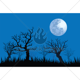 325x325 Spooky Night Illustrations Gl Stock Images