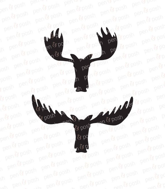 570x653 Moose Svg Moose Head Svg Moose Head Silhouette Moose