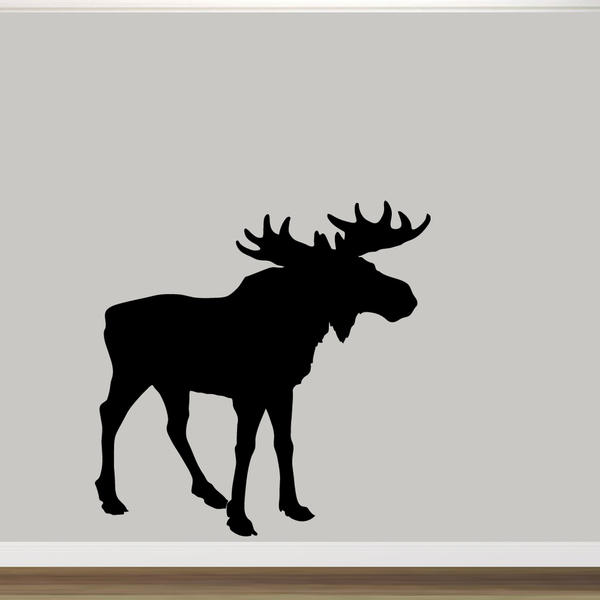600x600 Moose Silhouette Wall Decal (60 X 60)