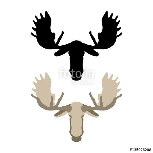 500x500 Moose Head Vector Illustration Style Flat Stock Image And Royalty