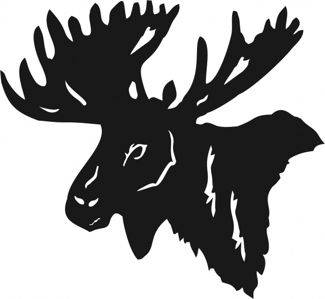Moose Head Silhouette At Getdrawings Com Free For