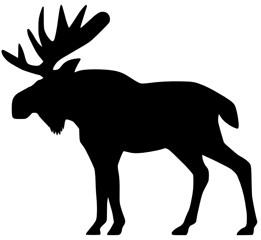 moose head silhouette clip art at getdrawings com free for rh getdrawings com free christmas moose clipart