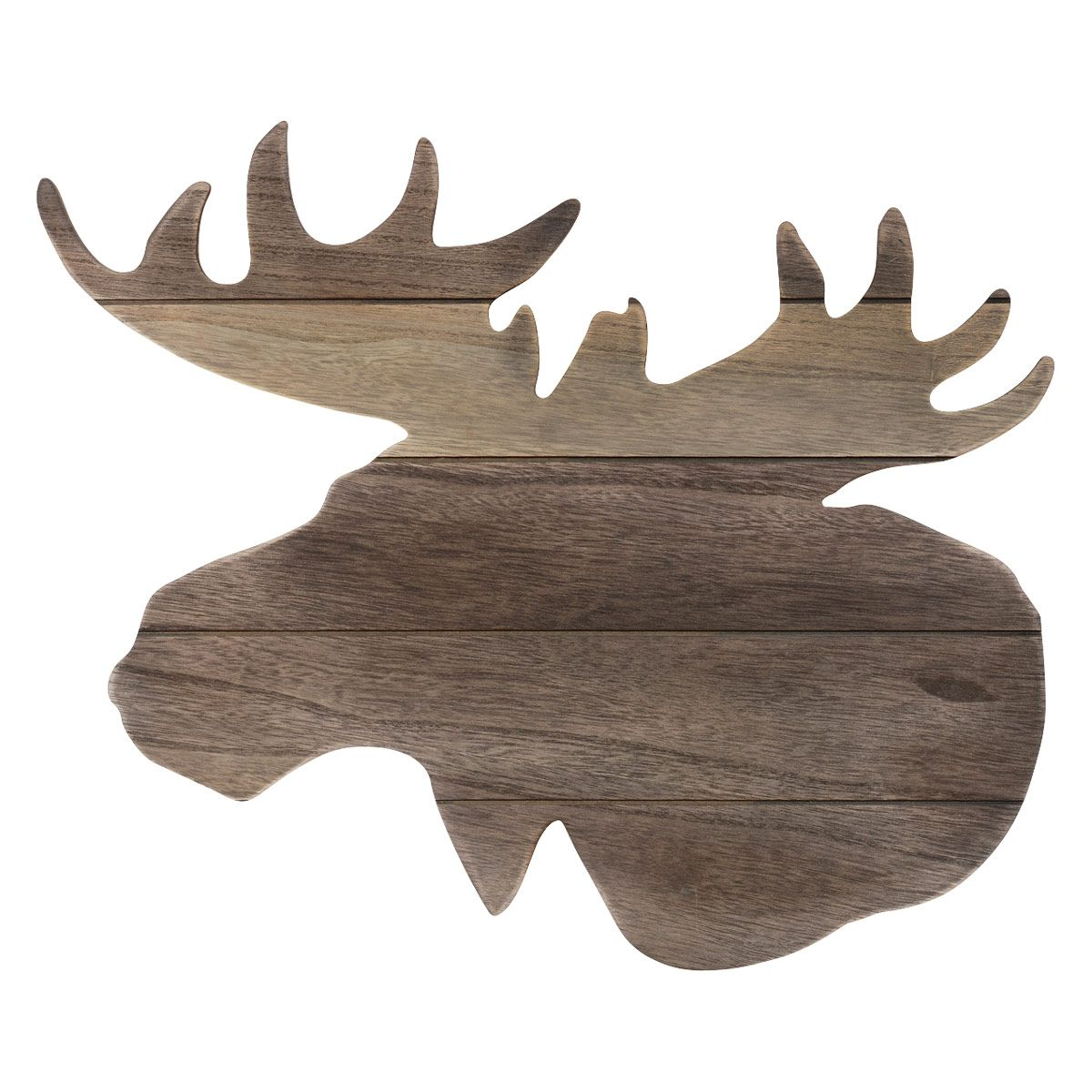 1200x1200 Moose Head Silhouette Wood Wall Art Obsessive Camping Disorder