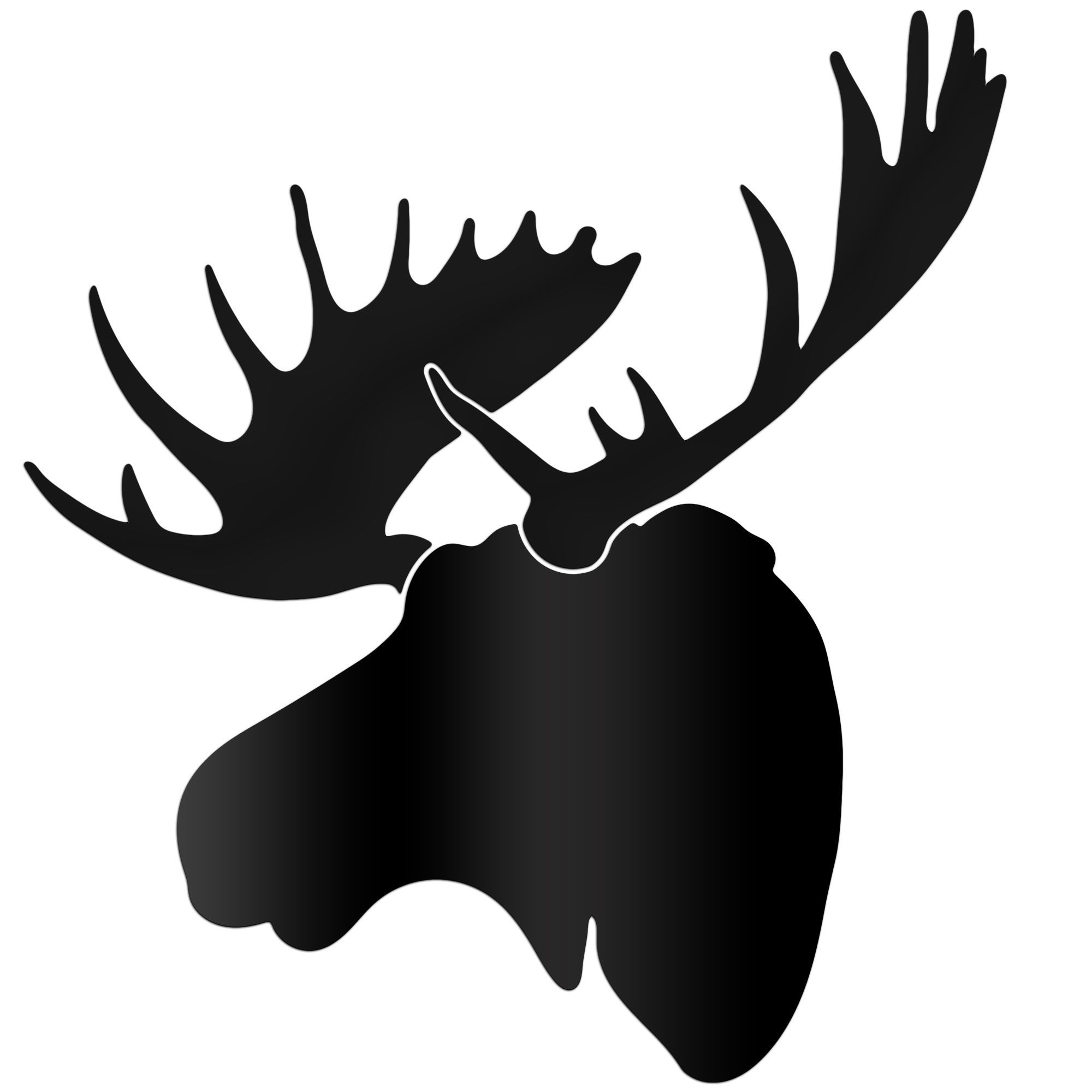 2000x2000 Vinyl Wall Decal Moose Head Silhouette By Walldecalsandquotes