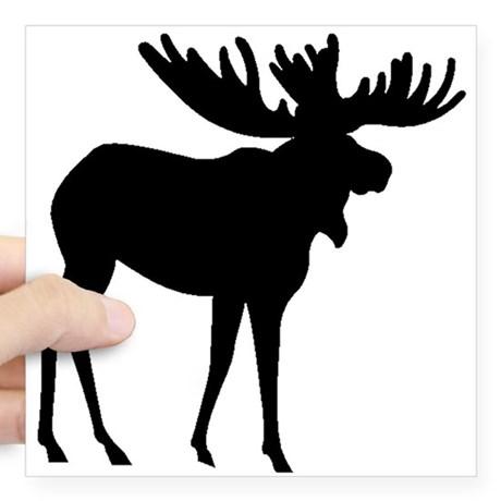 460x460 Moose Profile Silhouette