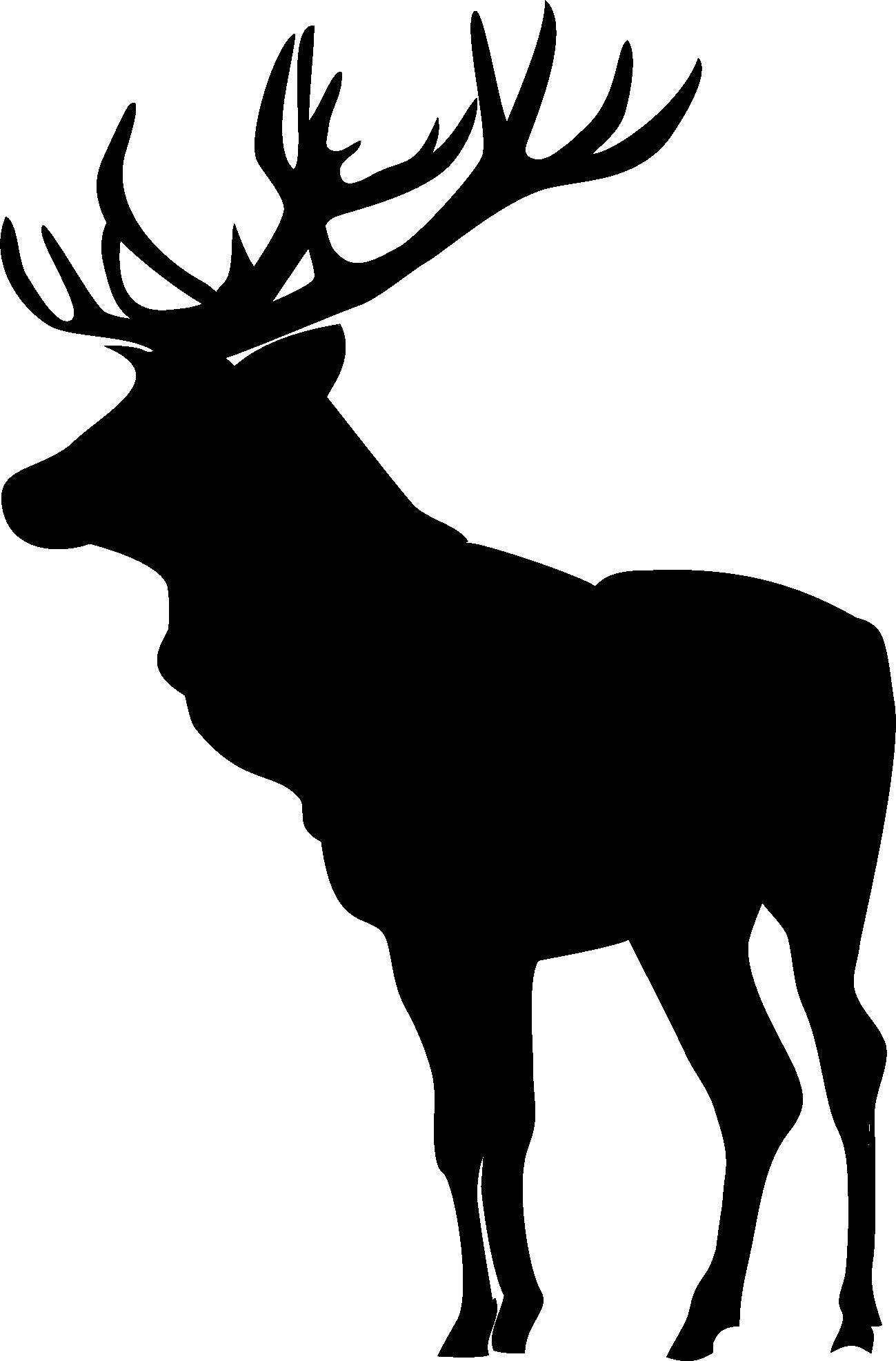 1299x1973 Elk Silhouette Clip Art