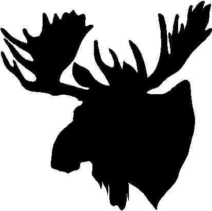413x410 Pics For Gt Black And White Moose Head Stencils And Art Project