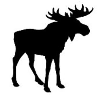 320x320 Ravelry Moose Silhouette Chart Pattern By Lea Barrick