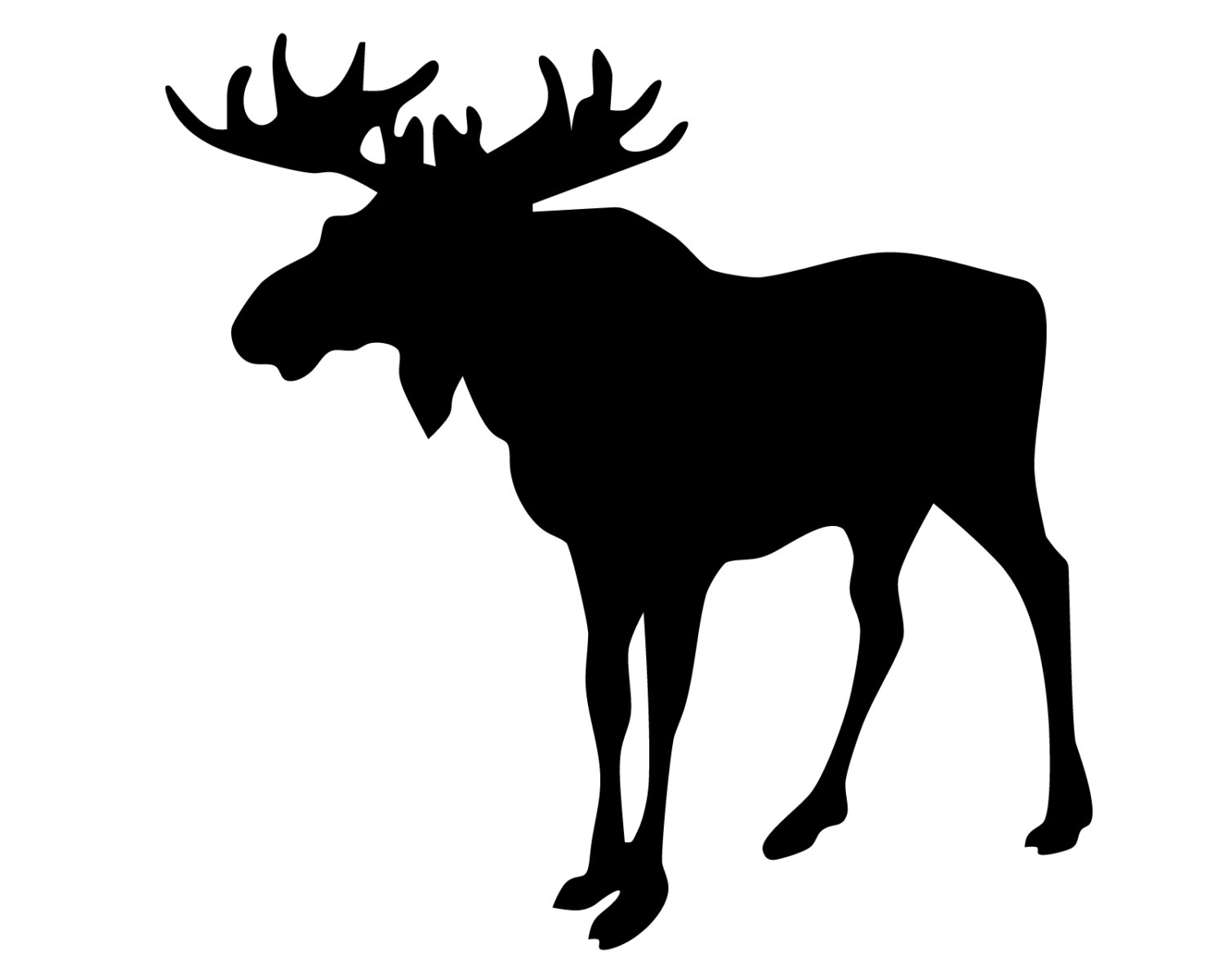1500x1200 Moose Hunting Vinyl Decal Moose Hunter Sticker Moose