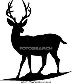 236x277 Deer Head Decal 44, Hunting Decals, Fishing Decals, Hunting