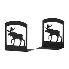 236x236 Oklahoma Casting Framed Moose Silhouette Wall Art