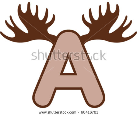 450x380 Moose Horn Clipart