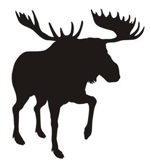 300x330 Moose Silhouette 7 Decal Sticker