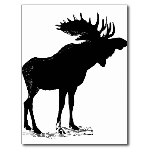512x512 Moose Silhouette Clipart