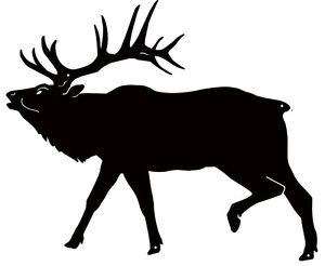 300x246 Moose Silhouette Laser Cut Out Sign 30x36 Ebay