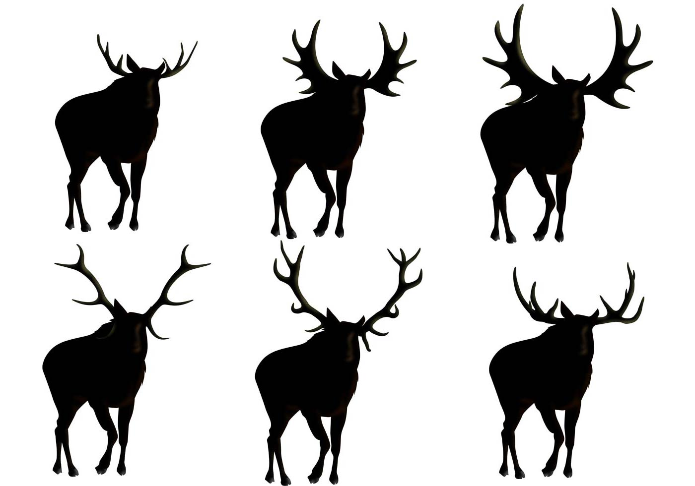 1400x980 Moose Silhouette Vectors