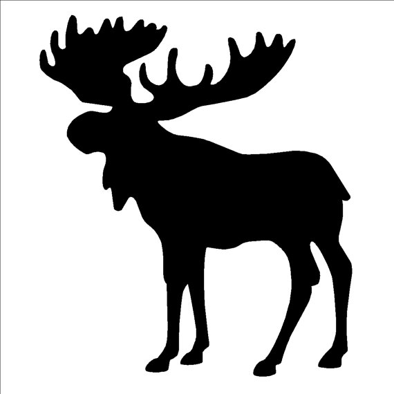 570x570 Moose Silhouette Stencil Or Self Adhesive Decal 9.5 X 11