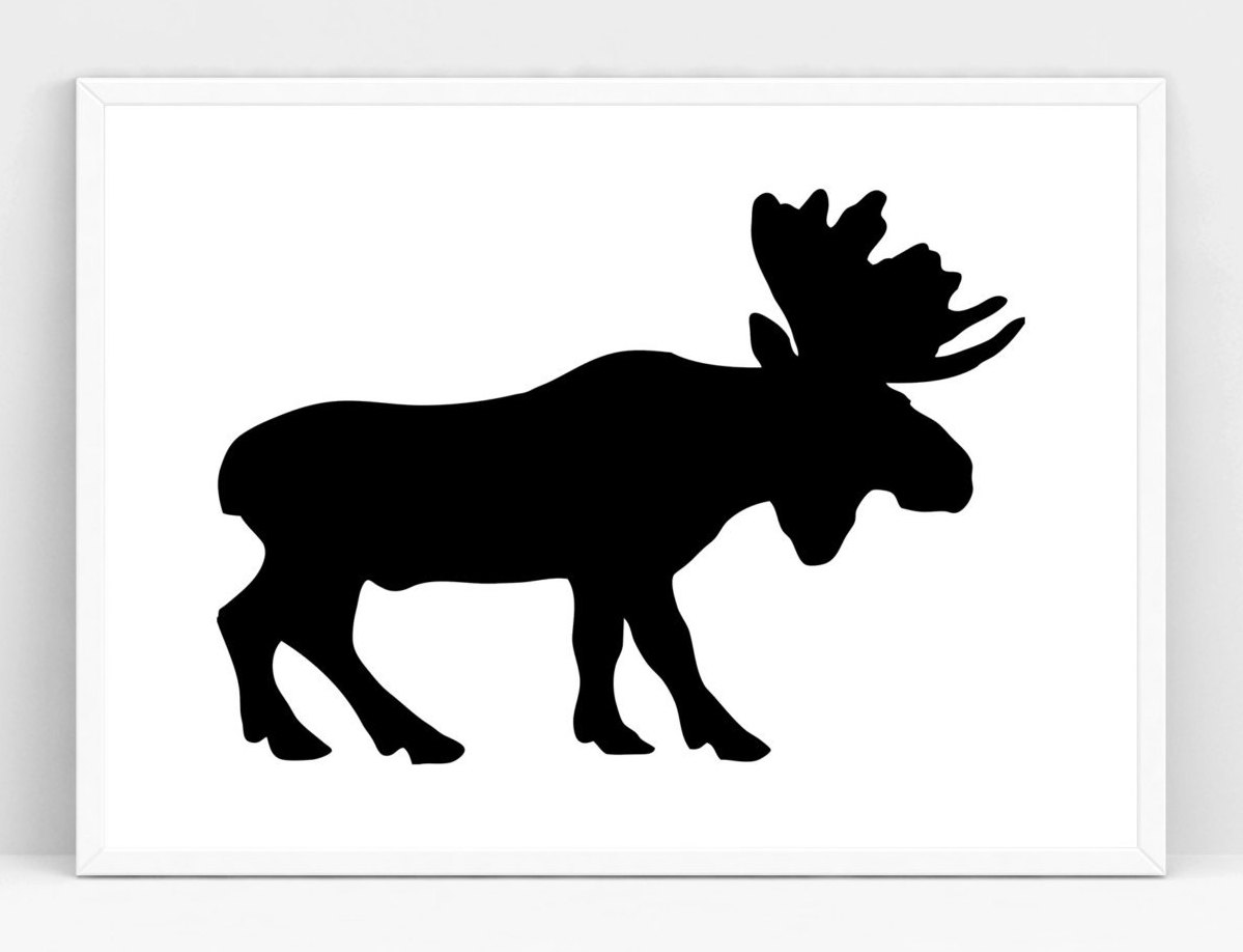 1199x918 Printable Art Moose Silhouette Gallery Wall Prints Nursery