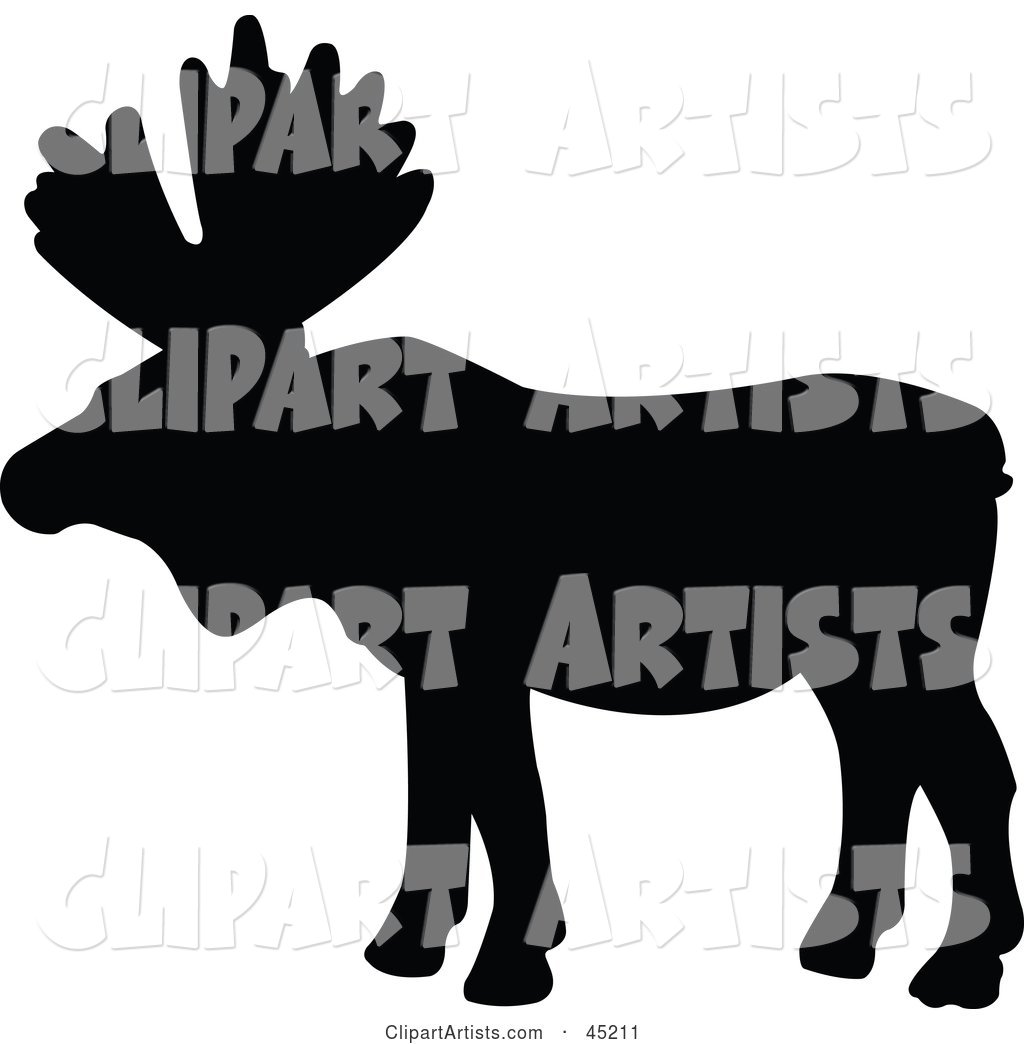 1024x1044 Profiled Black Moose Silhouette Clipart By Jr (Vectorized)