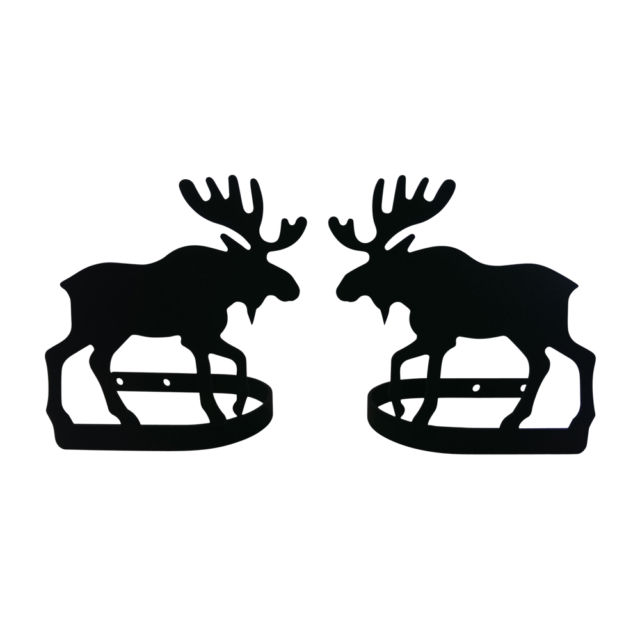 640x640 Wrought Iron Curtain Tie Backs Pair Of 2 Moose Silhouette Window