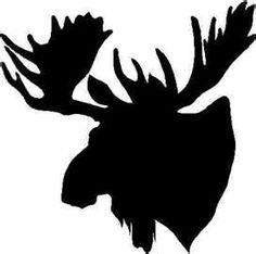 236x234 Moose Silhouette Moose Moose Silhouette, Moose