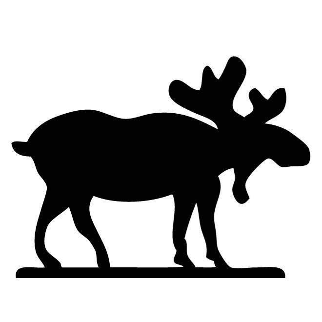 660x660 Moose Outline Image