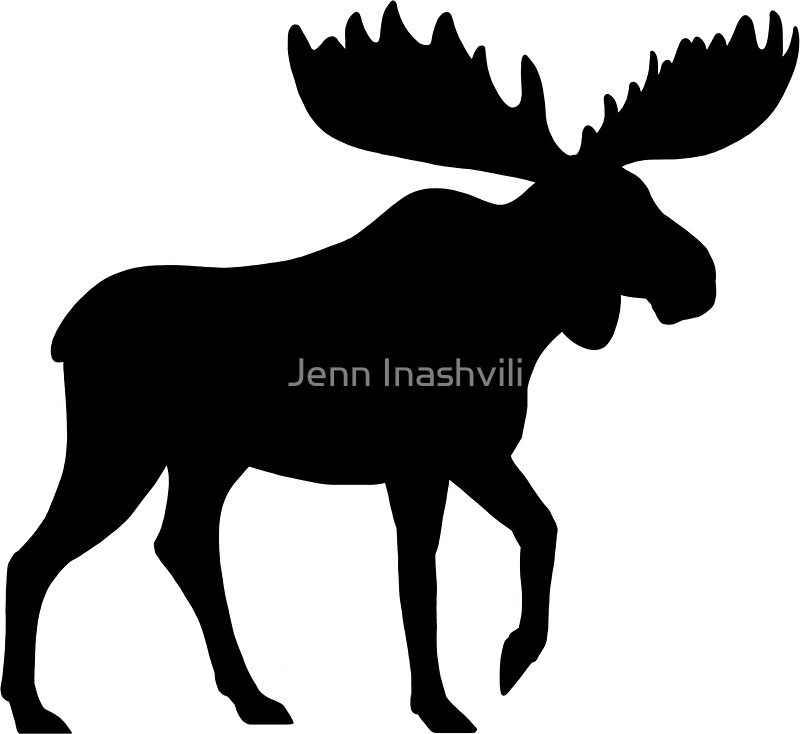 800x734 Moose Silhouette(S) Stickers By Jenn Inashvili Redbubble