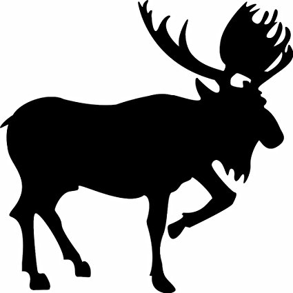 425x425 Moose Silhouette Hunter Hunting Vinyl Wall Sticker Decal
