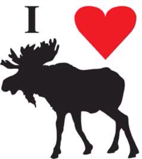 Moose Silhouette Pattern
