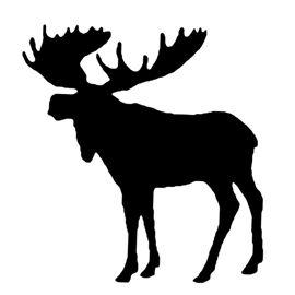 270x270 Moose Silhouette Stencil Crafts Moose Silhouette