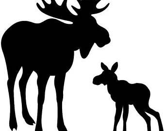 340x270 Moose Stencil Etsy