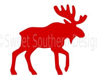 340x270 Euro Stencil Design Moose Silhouette 12x12 Stencil For Burlap