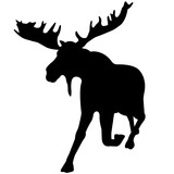 160x160 Moose Silhouette Vector Graphics Stock Image And Royalty Free